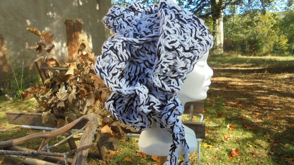 Béret Automne d'artiste au crochet, fait à la main, modèle unique