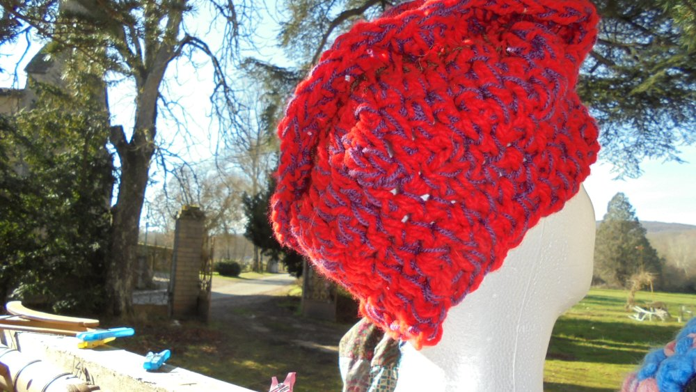 bonnet original au crochet