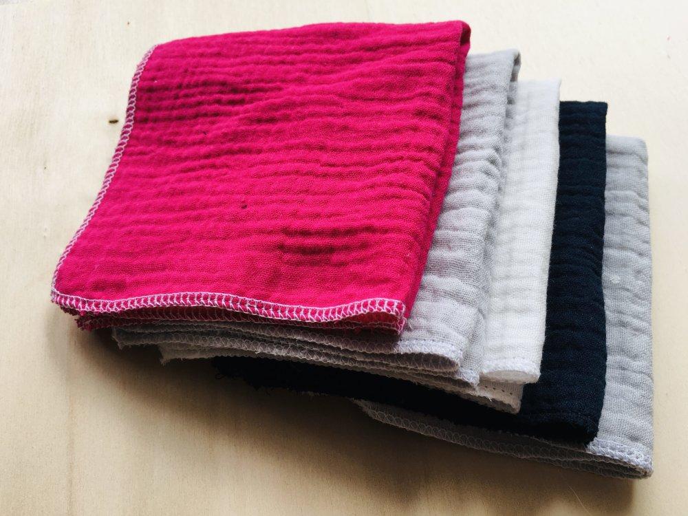 Mouchoirs lavables up cyclés lot de 5