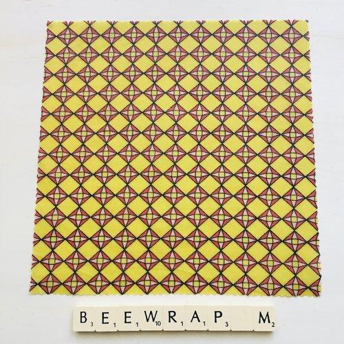 Film alimentaire réutilisable type beewraps m/25 cm