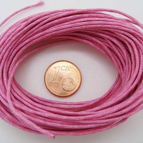 Echeveau 75m fil coton ciré 1mm VIOLET cordon lacet DIY bijoux déco loisirs