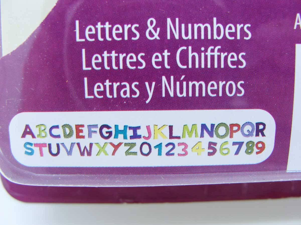 Moule Lettres Chiffres Alphabet pour Argile Pâte Molle Sculpey 12x9,5cm