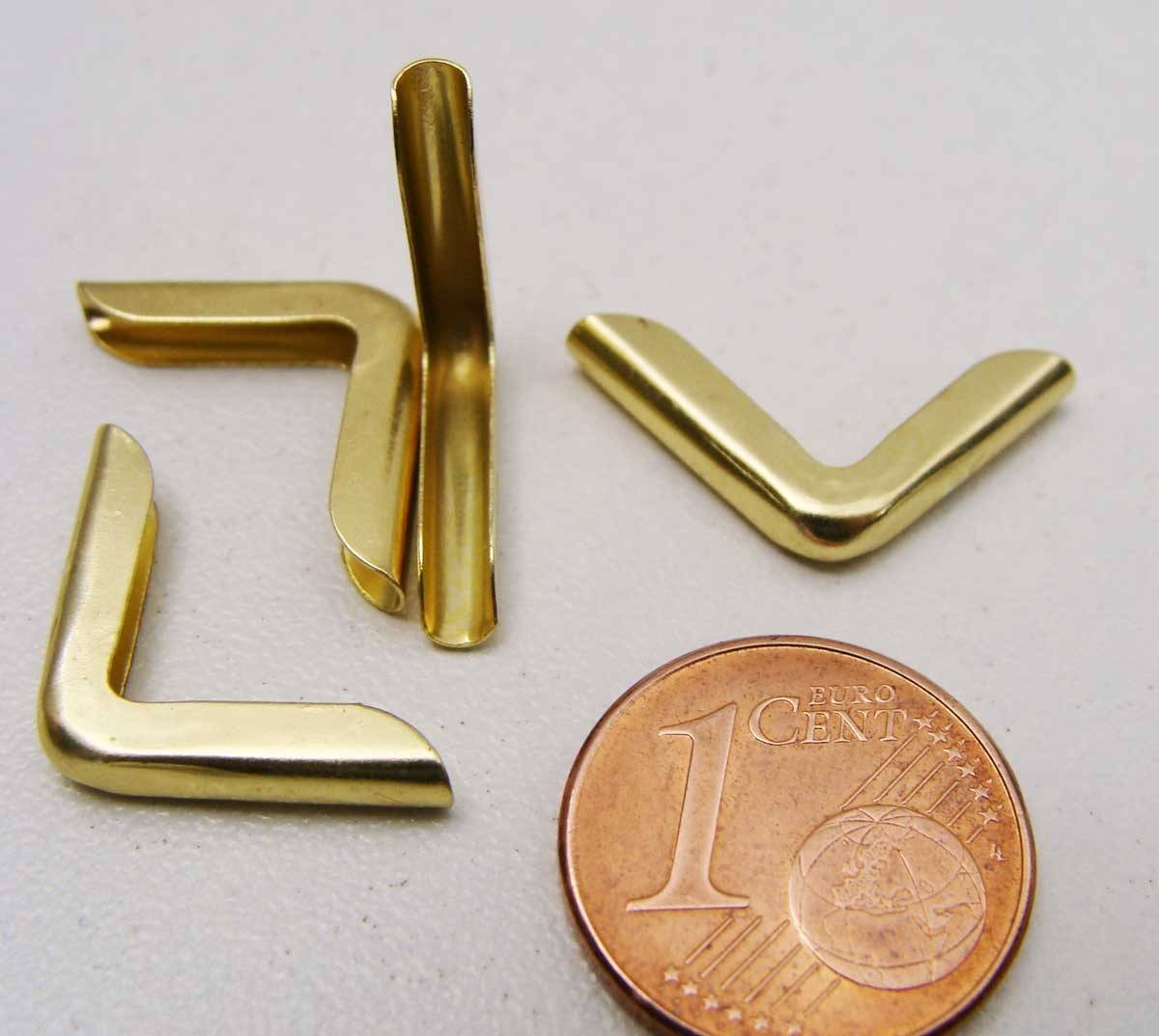 20 Angles 15mm metal DORE simple Coins