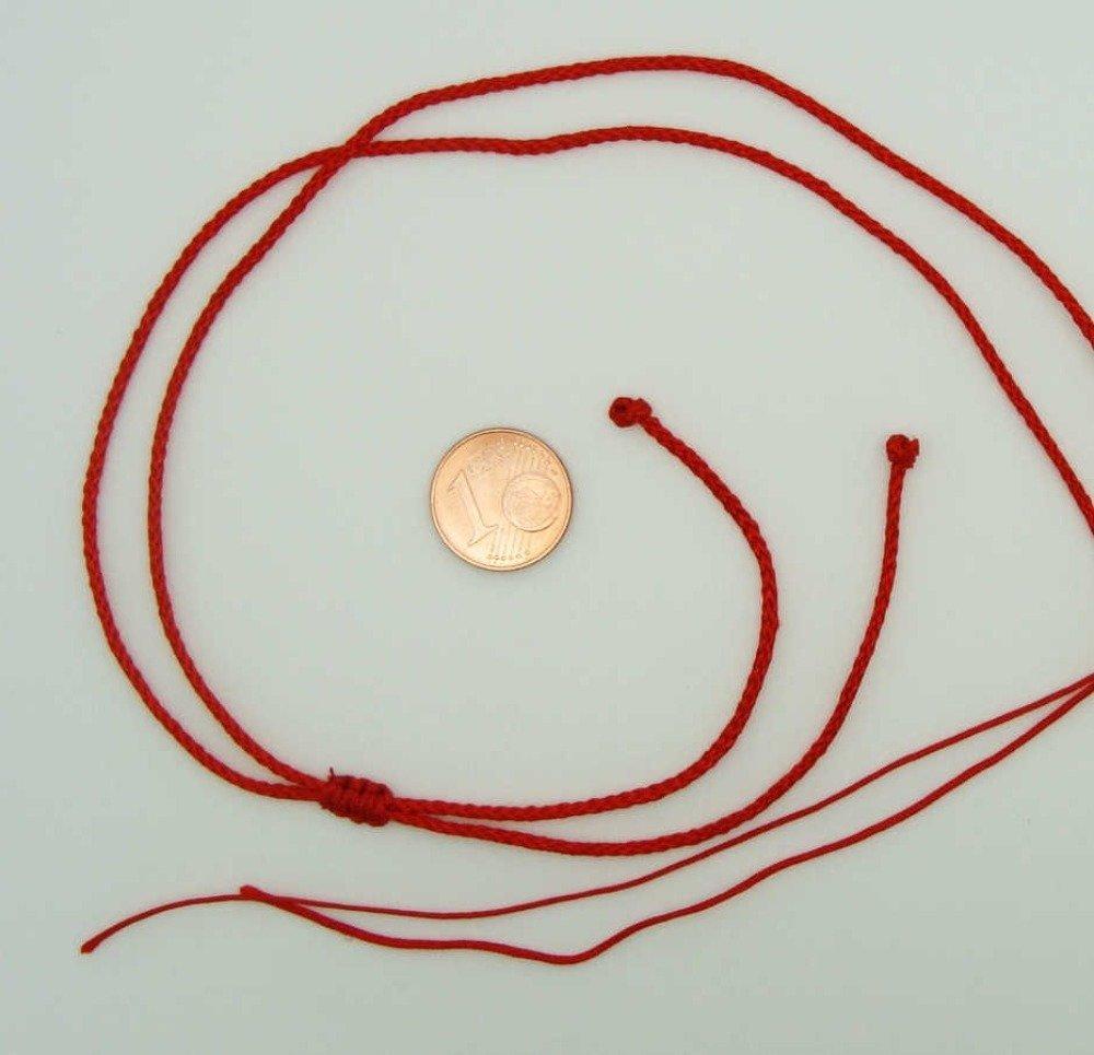 5 colliers rouges fil cordon nylon 1,5mm taille réglable par 1 noeud coulissant Création Bijoux