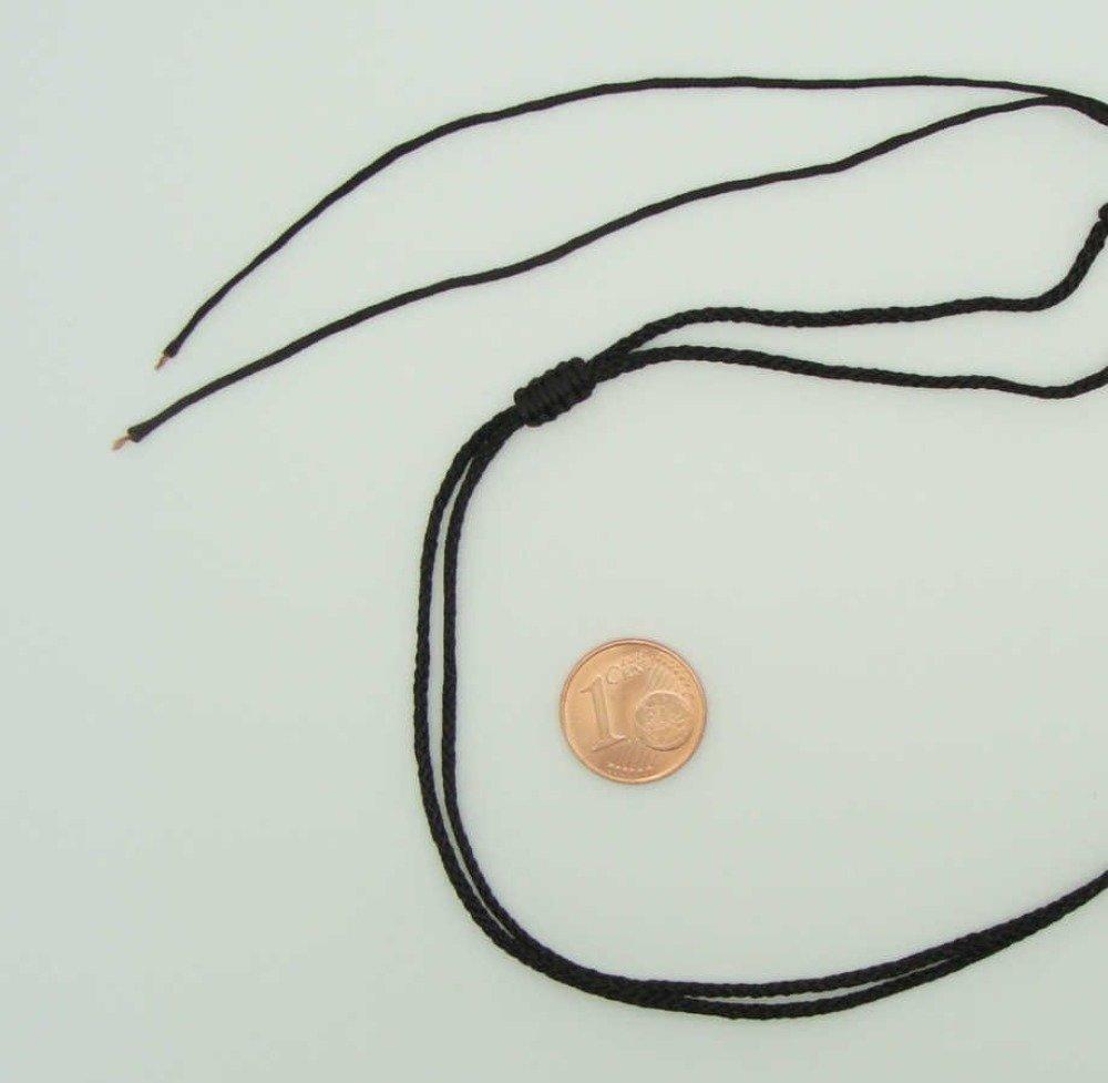 5 colliers marron foncé fil cordon nylon 1,5mm taille réglable par 1 noeud coulissant Création Bijoux