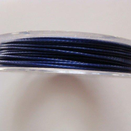 Fil Câblé Acier Gainé de Nylon 0,60mm 40 Mètres Gris