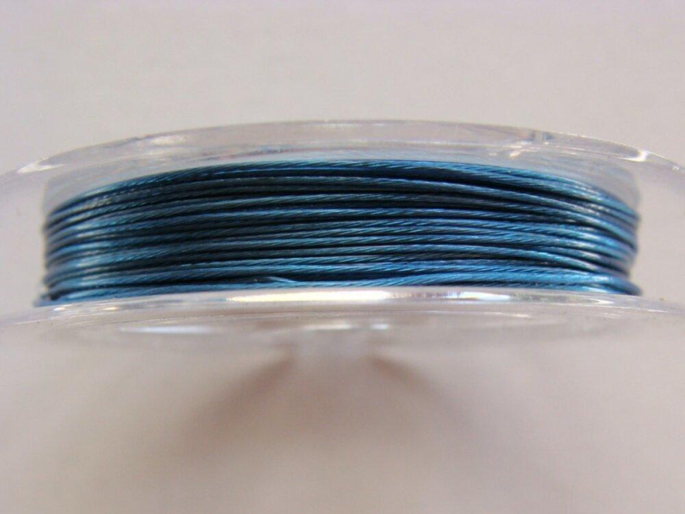 Fil câble 0,45mm Bleu Foncé bobine 10m Fil gainé