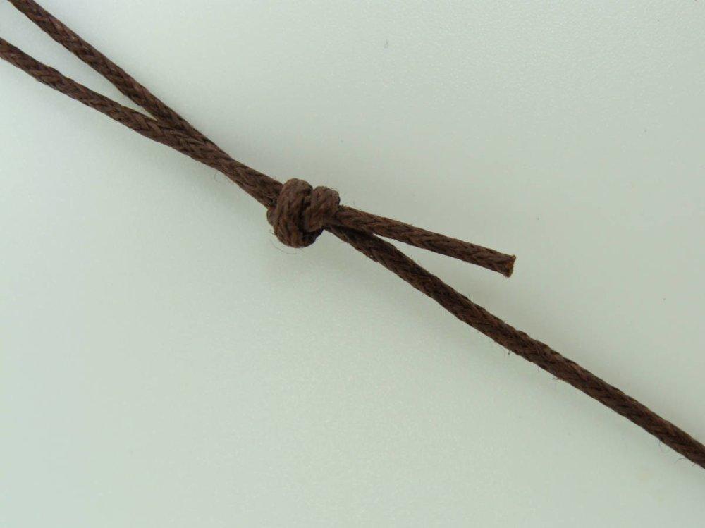 5 colliers marrons fil cordon coton ciré 1mm taille réglable par noeuds coulissants Création Bijoux