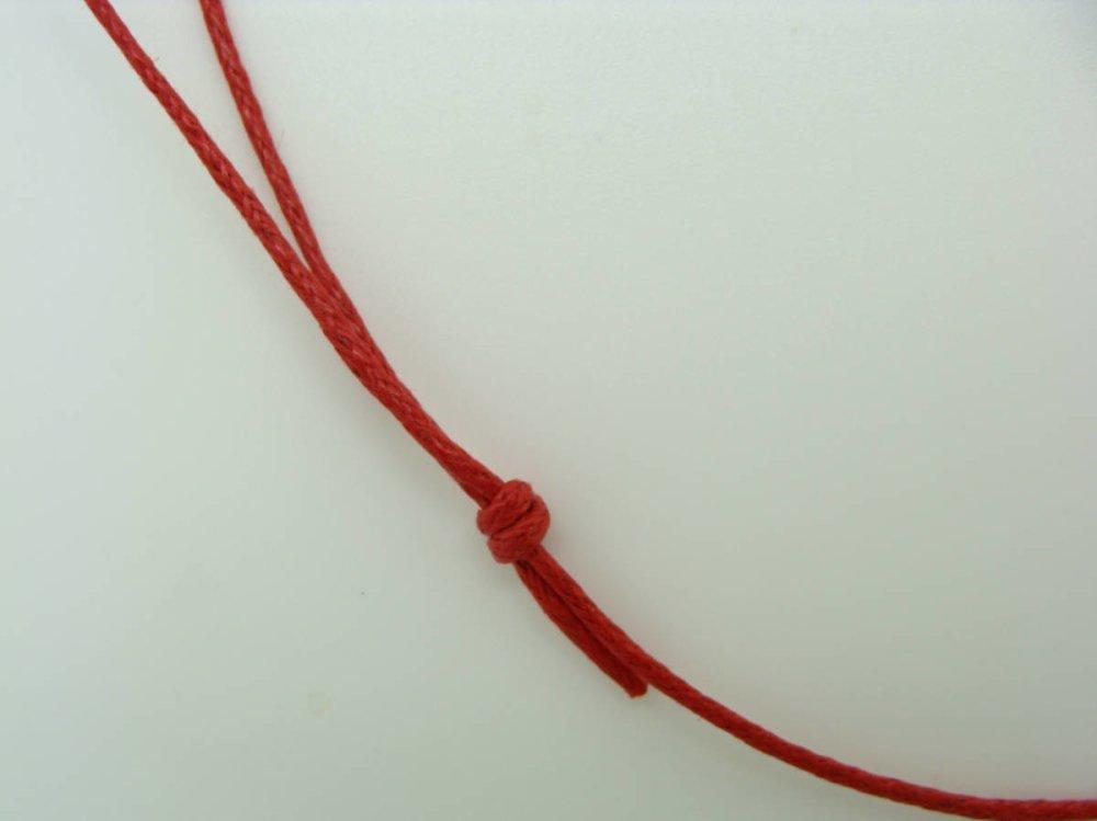 5 colliers rouges fil cordon coton ciré 1mm taille réglable par noeuds coulissants Création Bijoux
