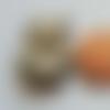 6 boutons chouette hibou animal oiseau 20mm bois