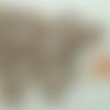 20 perles papillons ailes ouvertes 15mm acryliques marron