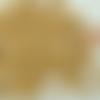 100 perles marron clair rondes 9mm bois peint