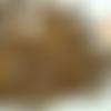 100 perles marron foncé rondes 9mm bois peint