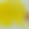50 perles jaune rondes 6mm verre simple aspect givre