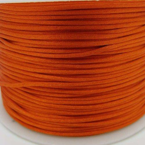 5 mètres queue de souris fil cordon satiné 1mm orange