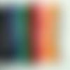 120m fil nylon tressé 1,5mm mix couleurs en 10 écheveaux de 12m shamballa