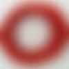 10 mètres fil rouge nylon polyester ciré 0,8mm cordon lacet création bijoux déco