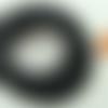 10 mètres fil noir nylon polyester ciré 1,5mm cordon lacet création bijoux déco