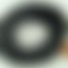 5 mètres fil noir nylon polyester ciré 2,3mm cordon lacet création bijoux déco