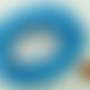 5 mètres fil bleu nylon polyester ciré 2,3mm cordon lacet création bijoux déco