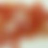 60 perles verre craquele 6mm marron orange création bijoux