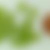 20 perles coeur 6,5mm vert verre oeil de chat diy création bijoux