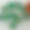 10 perles rondes 9mm vert verre lampwork motifs blancs et doré diy création bijoux