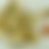 50 brads 20x8mm attaches parisiennes métal couleur dorée