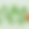 10 perles vert verre 10mm lampwork ovale twist création bijoux