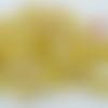 Mix perles tons jaunes par 75 grammes en verre lampwork