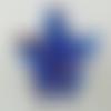 Pendentif papillon bleu foncé touches dorées animal en verre lampwork