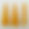 10 pendentifs supports bois jaune foncé triangle 40mm à décorer