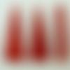 10 pendentifs supports bois rouge triangle 40mm à décorer