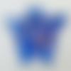 2 mini pendentifs papillon bleu foncé touches dorées 25mm animal en verre lampwork