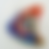 Pendentif poissons motif spirale haut rouge 50mm en verre lampwork