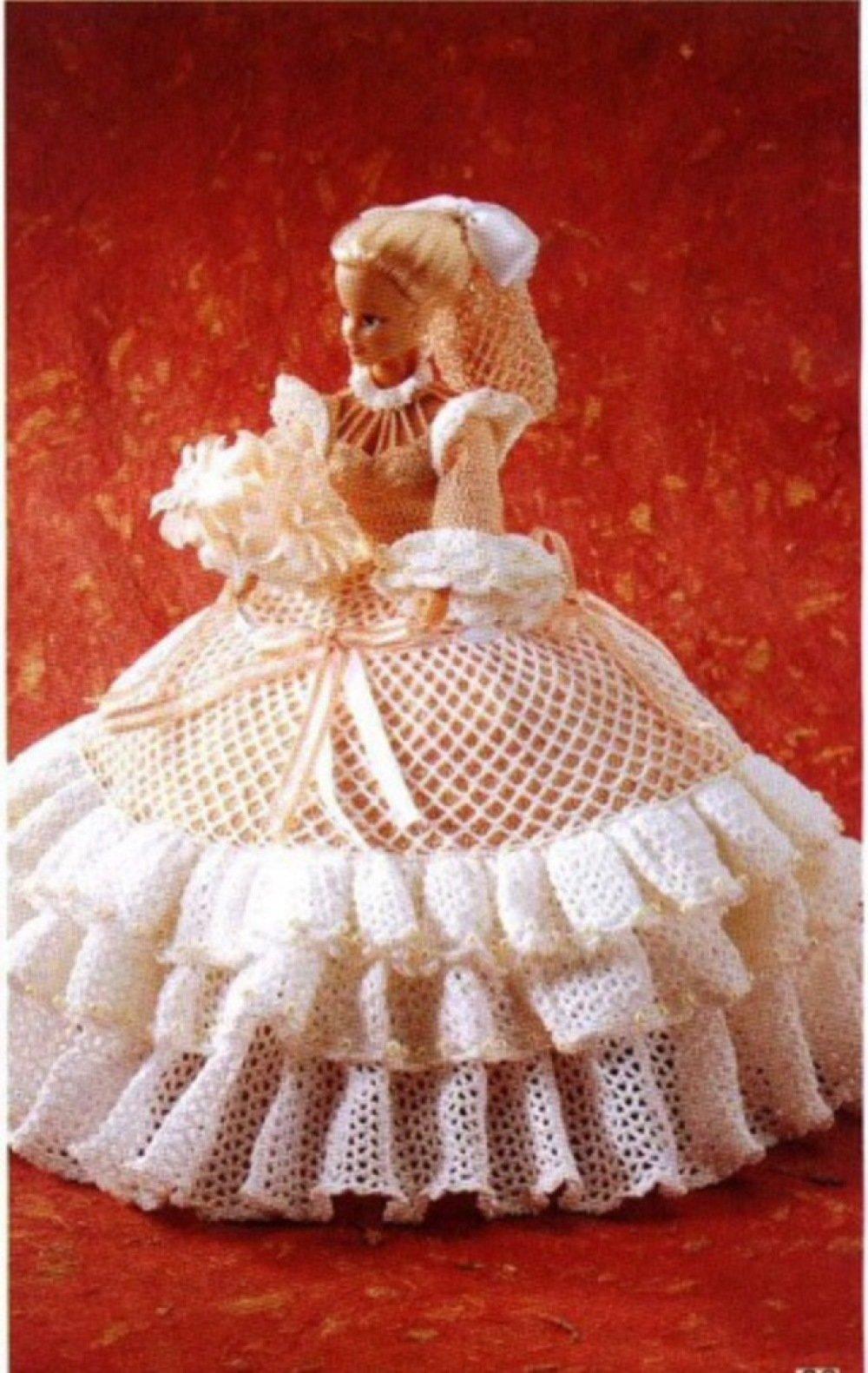 Modèle Robe dentelle au crochet pour poupée Barbie