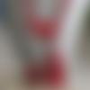 Ravissant sautoir colliers freeform en, céramique rouge