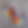Magnifiqus boucles d'oreille en cuivre vitrifié et perles