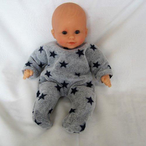"""Pyjama """"dors-bien"""" en jersey pour poupon 30 cm ref pyj014"""