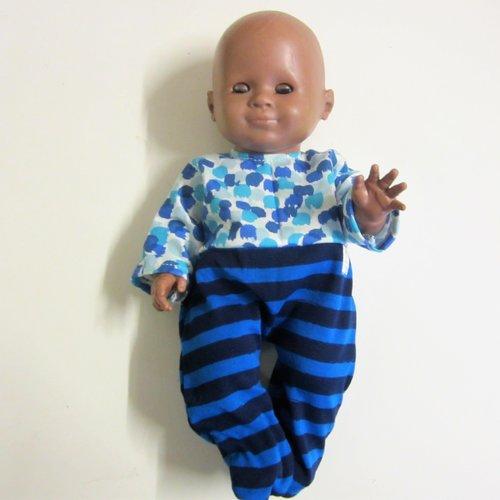 """Pyjama """"dors-bien"""" en jersey pour poupon 30 cm ref pyj019"""