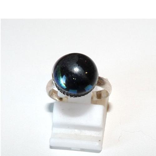 Bague petit tour de doigt noire bijou mixte pour fille garçonnet enfant