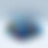Broche losange bleu turquoise en verre coloré