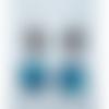 Boucle d'oreille spirale bleu éclatant qui brille création fusing fête des mères