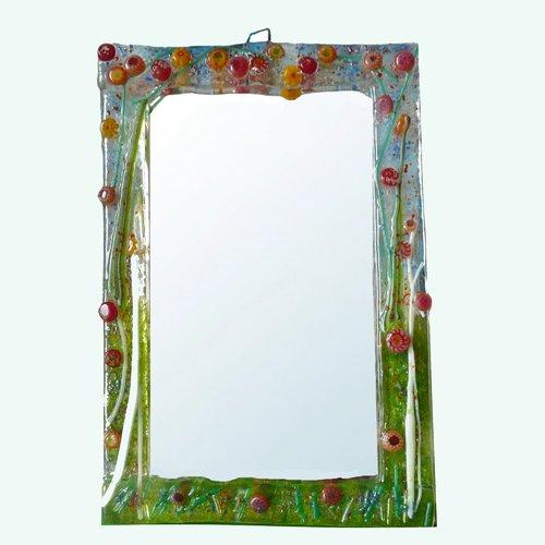 Miroir décoration estivale home déco en verre fusionné par créateur