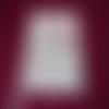 Pochette - étui à couverts matelassé motif capitonné gris et rose