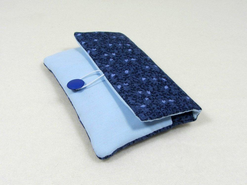 Etui portable, étui iphone en coton fleuri