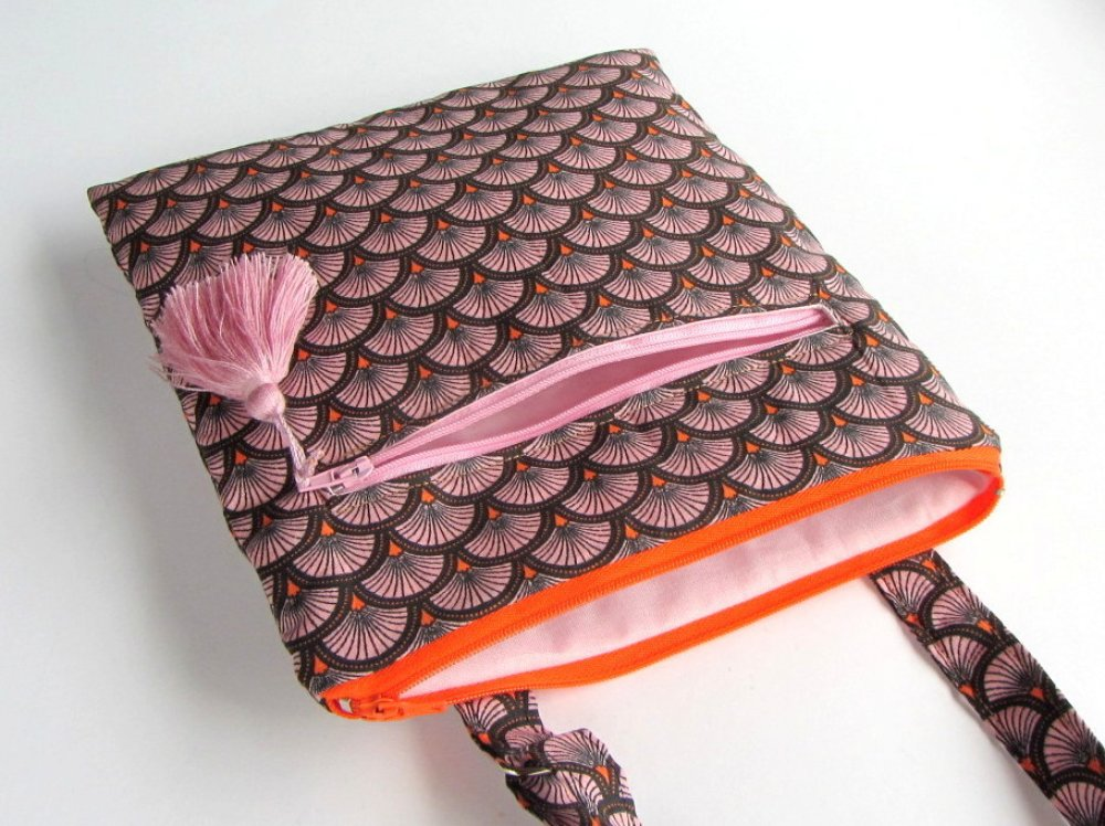 Sac à bandoulière en tissu coton japonais