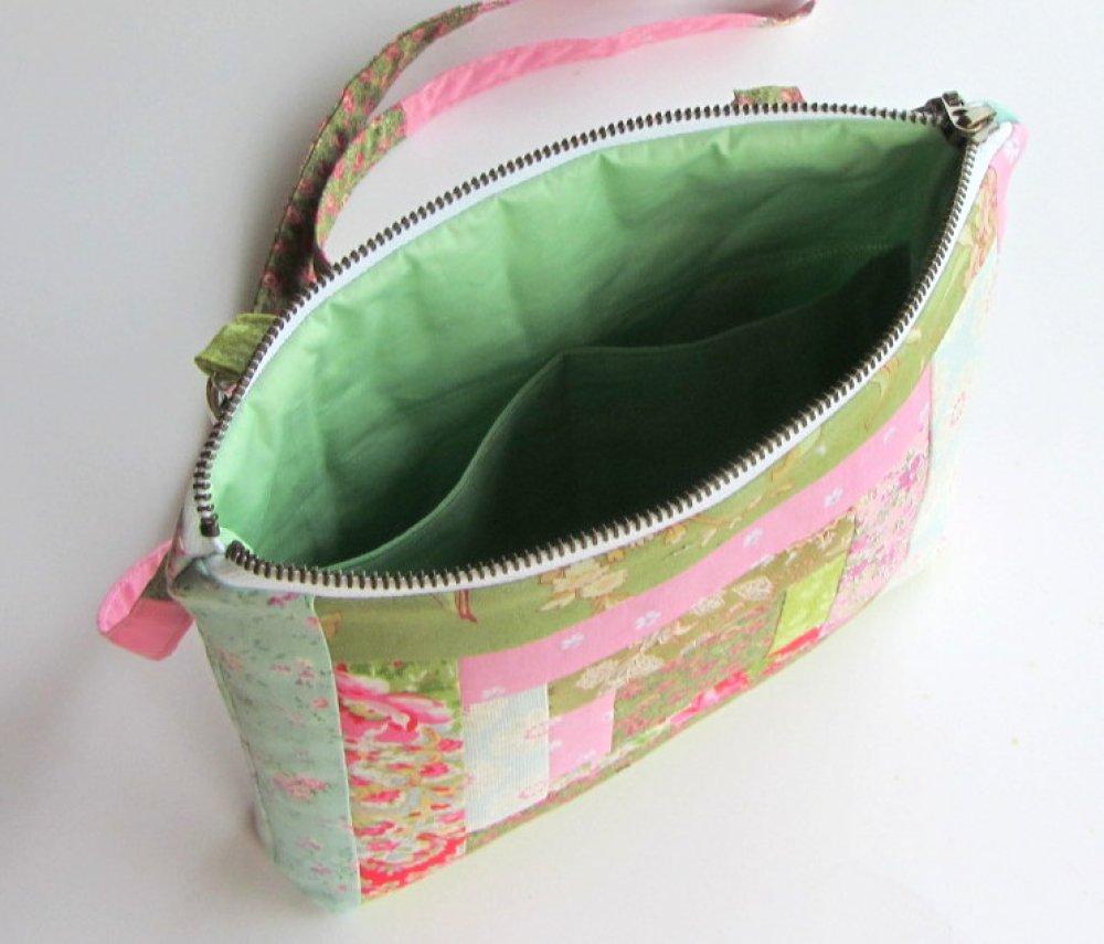 Sac à bandoulière en coton patchwork