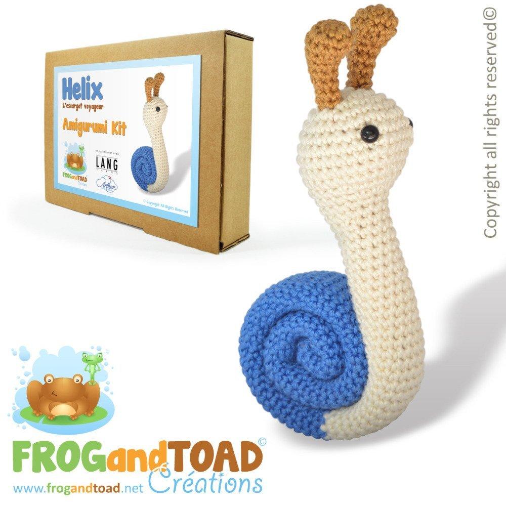 Amigurumi Crochet Kit - HELIX l'Escargot Voyageur