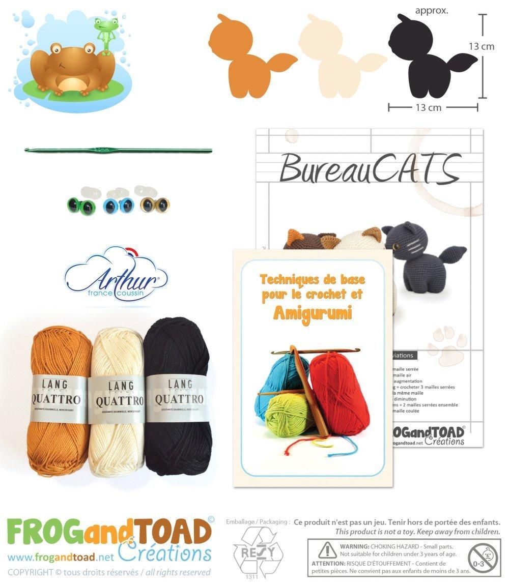 Amigurumi crochet kit - bureaucats - chat / chaton / minou